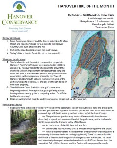 Hanover Conservancy hike of the month