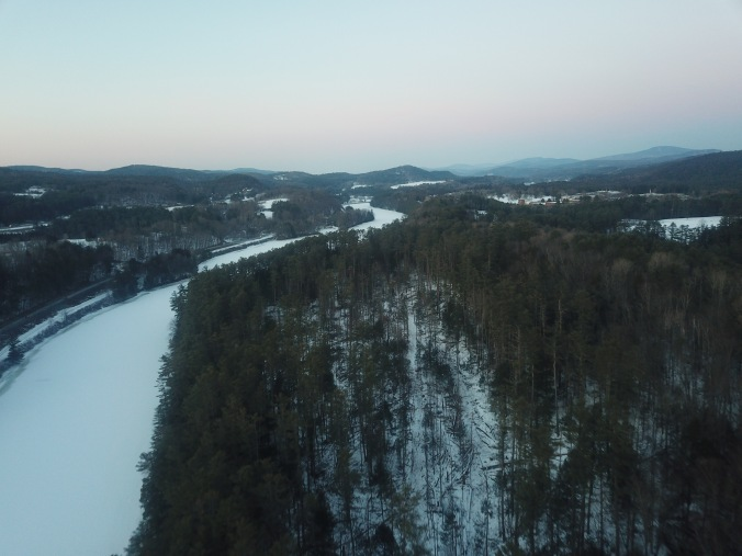 drone view from the south